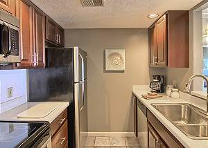 Full sized kitchen, equipped with the essentials to make you feel at home