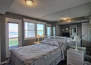 Wake up to a beautiful view of Lake Michigan