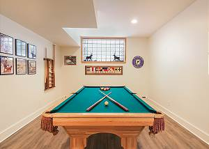 Full size pool table with top to convert to ping pong