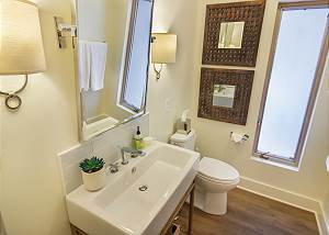 half bath located near second and third bedrooms