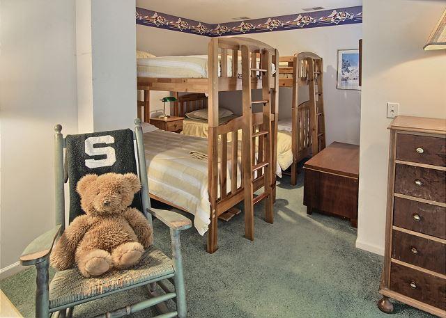 Lower level bunk area
