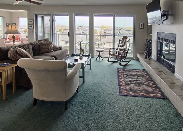 Living room with balcony to beautiful views