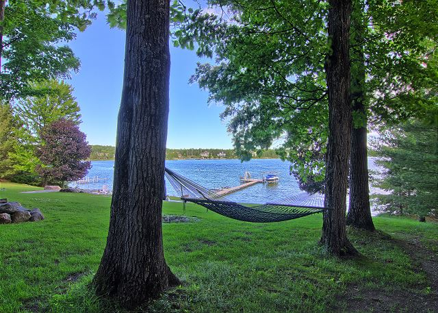 enjoy the cool Lake Charlevoix breeze from perfect hammock trees