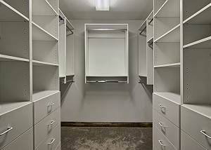 Upper level master walk in closet