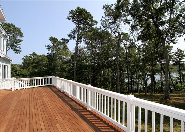 Large deck with Long Pond views