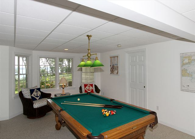 Lower Level Billiard Table w/ Views