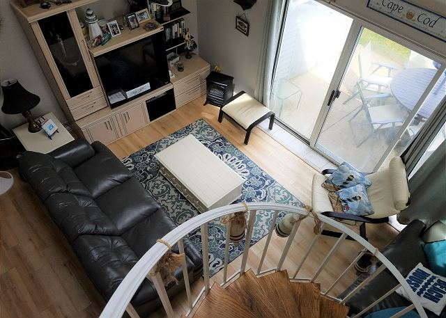 Living area from stairs