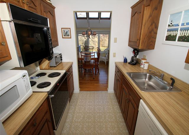 Great galley style kitchen