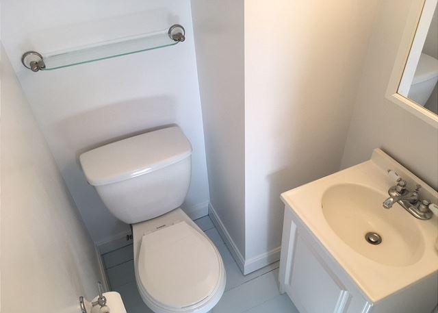 Upstairs half bath