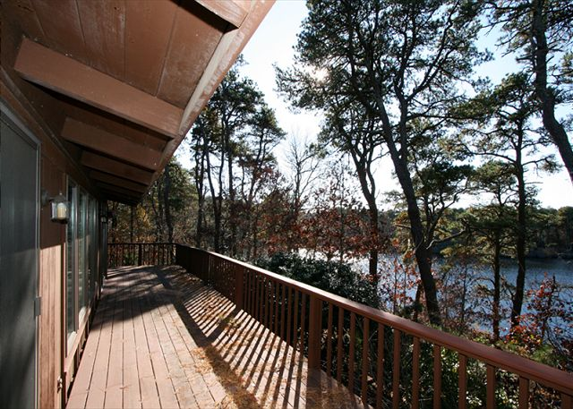 Wrap Around Deck with Views of Blueberry Pond