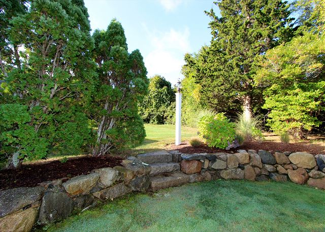 Rock Wall, Backyard