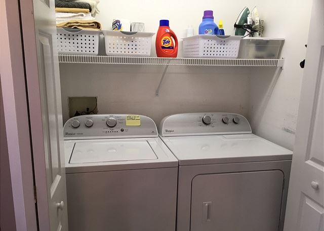 Washer/Dryer in Master Bath