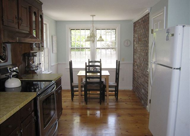 Kitchen with small dining table