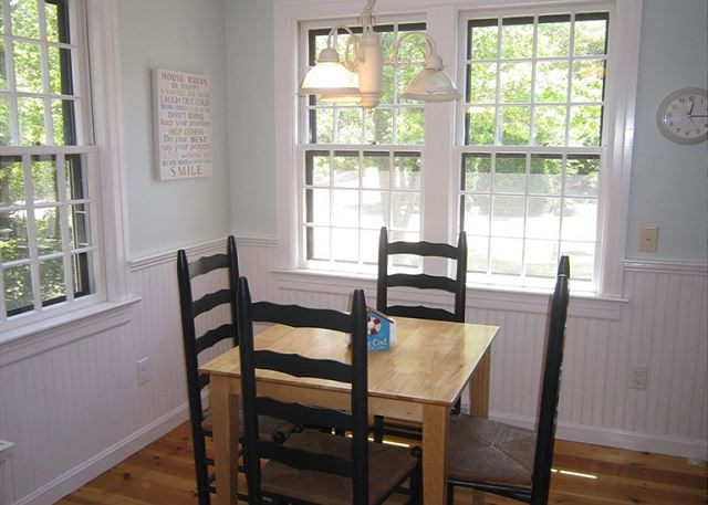 Small dining table off kitchen
