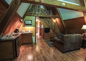 Logan ohio us romantic a frame cabin for A frame home interiors