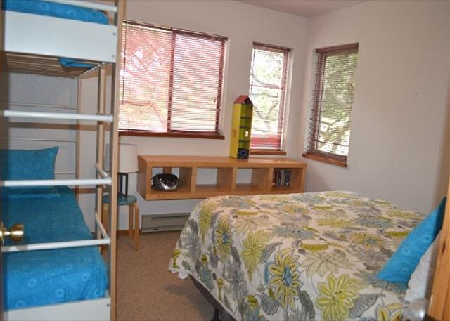 2nd Bedroom, Entry Level with Twin Bunk and Queen bed