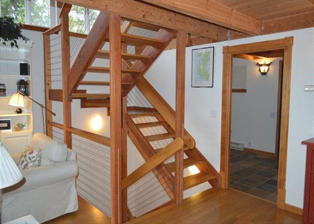 Stairwell up to loft or down to master bedroom