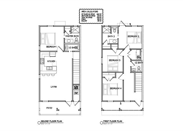"Floor plan, ""Bedroom 4"" on 1st level is now the Downstairs living area"