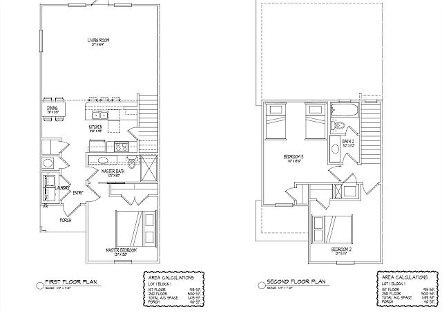 Floor plan, 1415SF