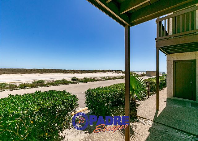 View of the beach dunes right outside your front door.