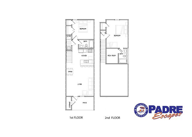 Unit floor plan, 1177SF