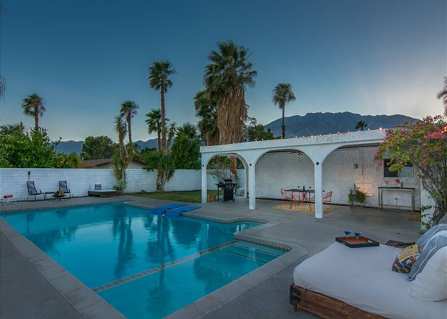 View from the backyard pool area of the San Jacinto Mountains