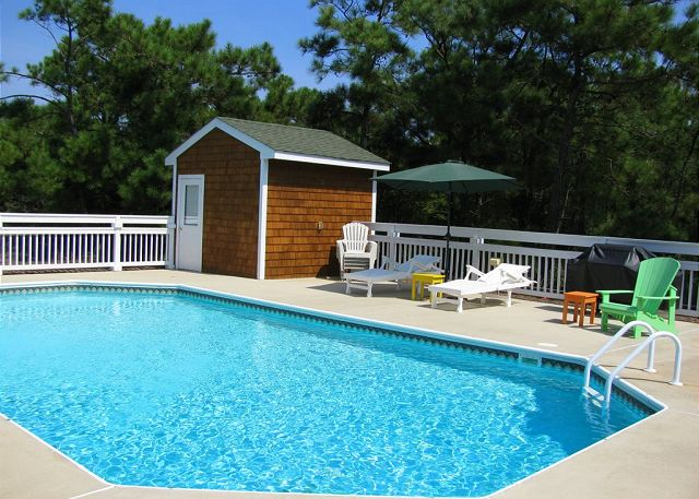Private Pool of Serendipity, a 5 bedroom, 4.5 bathroom vacation rental in Corolla, NC