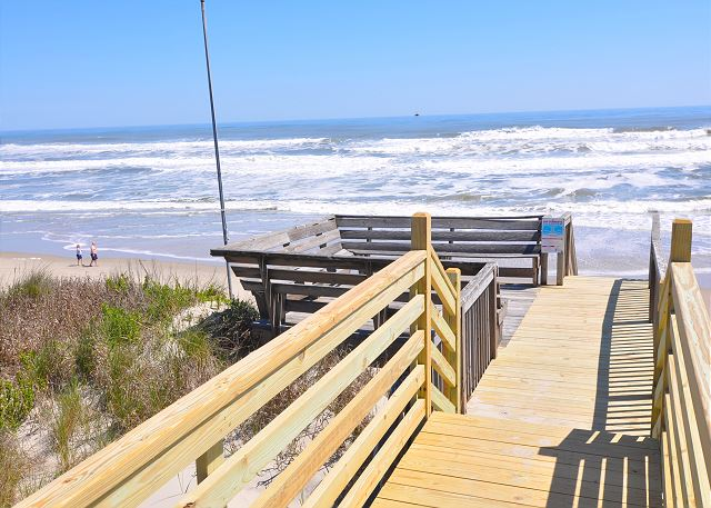 Beach Access of Time To Coast, a 6 bedroom, 4.5 bathroom vacation rental in Corolla, NC