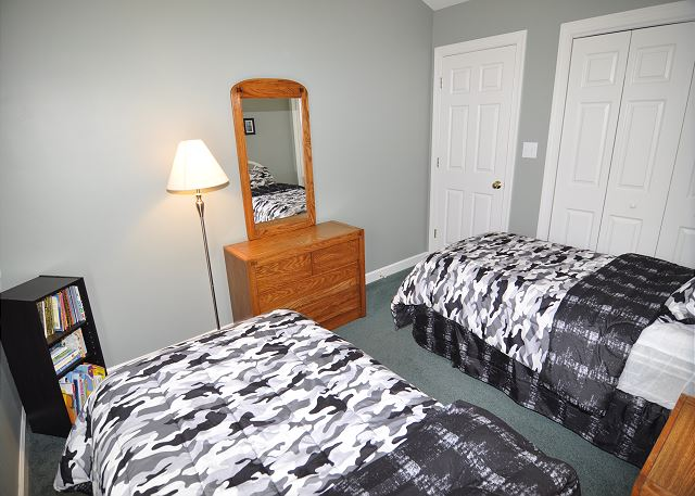 Twin Bedroom Top Level of A Tar Heel State of Mind, a 4 bedroom, 3.0 bathroom vacation rental in Corolla, NC