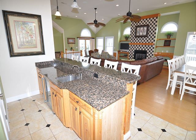 Kitchen Top Level of Coastal Castle, a 8 bedroom, 7.0 bathroom vacation rental in Corolla, NC