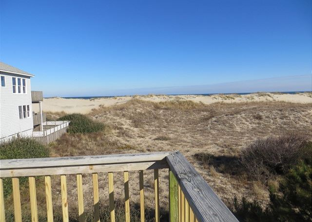 Roof Top Deck View of Time To Coast, a 6 bedroom, 4.5 bathroom vacation rental in Corolla, NC