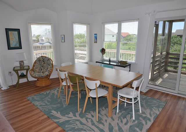 Dining Area Top Level  of Sunset Strip, a 5 bedroom, 3.0 bathroom vacation rental in Corolla, NC