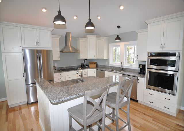 Kitchen Top Level of Forever 409, a 6 bedroom, 5.5 bathroom vacation rental in Corolla, NC