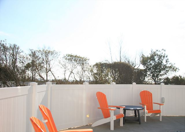 Pool Deck of Summer Love, a 6 bedroom, 6.5 bathroom vacation rental in Corolla, NC