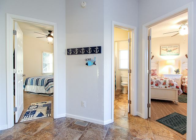 Hallway Entry Level of Just Fore Fun, a 4 bedroom, 3.5 bathroom vacation rental in Corolla, NC
