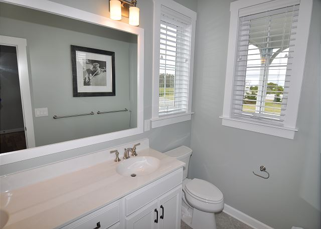 2nd King Master Bathroom Mid Level of Forever 409, a 6 bedroom, 5.5 bathroom vacation rental in Corolla, NC