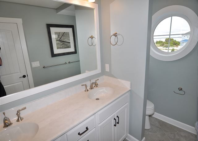Master Bathroom Top Level of Forever 409, a 6 bedroom, 5.5 bathroom vacation rental in Corolla, NC