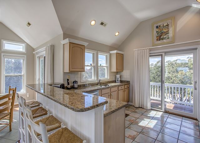 Kitchen Bar Top Level of Heron Haven, a 5 bedroom, 4.5 bathroom vacation rental in Corolla, NC