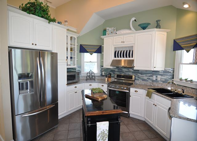 Kitchen Top Level of Tranquility Farms, a 7 bedroom, 5.5 bathroom vacation rental in Corolla, NC