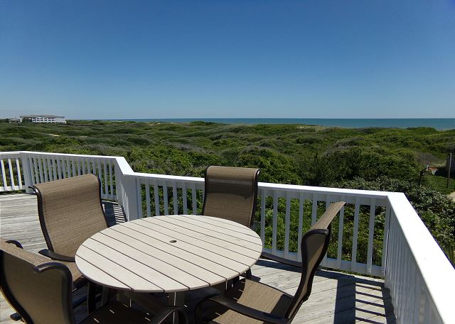 Ocean View Deck of Waterlily, a 5 bedroom, 5.5 bathroom vacation rental in Corolla, NC