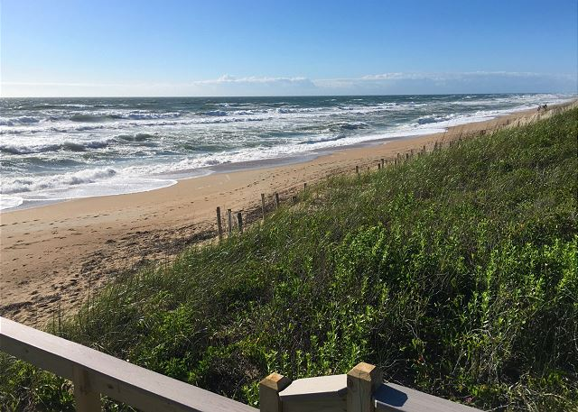 Southern Shores beach of Manhattan South, a 5 bedroom, 4.0 bathroom vacation rental in Southern Shores, NC