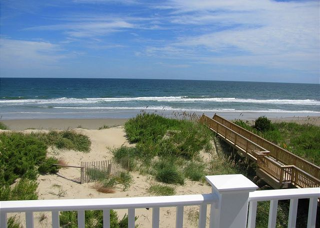 View from Deck Land's End is a 7 bedroom, 7.5 bathroom vacation rental in Corolla, NC