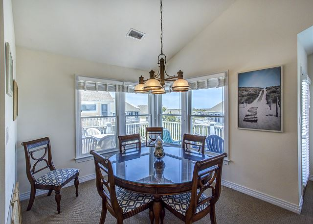 Dining Area Top Level of Par-Tee by the Sea, a 4 bedroom, 3.5 bathroom vacation rental in Corolla, NC