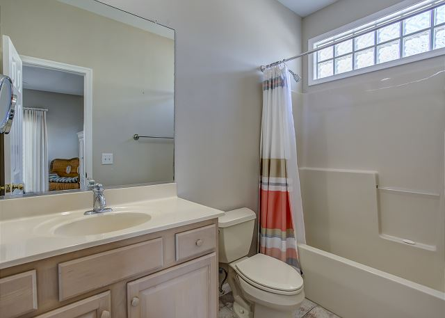 2nd King Master Suite Bathroom Mid Level of Heron Haven, a 5 bedroom, 4.5 bathroom vacation rental in Corolla, NC
