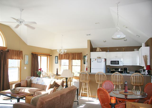 Great Room Top Level of Shore Sounds Good!, a 5 bedroom, 4.5 bathroom vacation rental in Corolla, NC