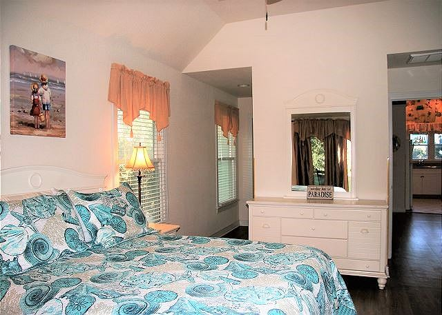 Queen Master Bedroom Top Level of Paradise Cay, a 5 bedroom, 3.5 bathroom vacation rental in Corolla, NC