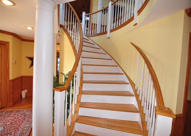Staircase down to Entry Level