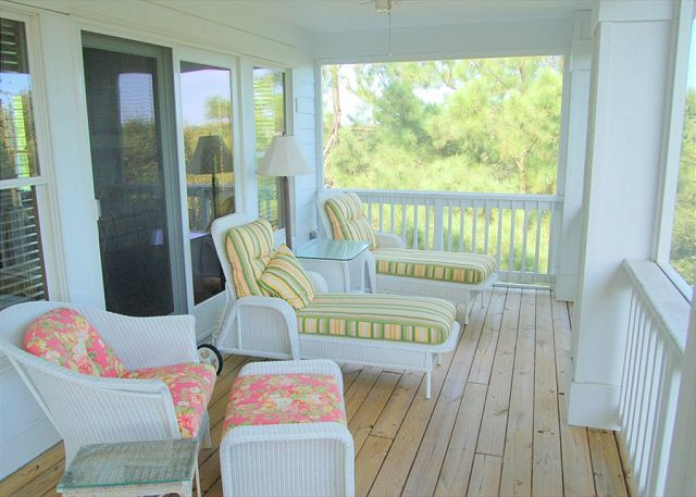 Screened Porch of Southern Breeze, a 5 bedroom, 4.5 bathroom vacation rental in Corolla, NC