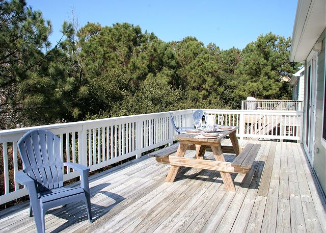 Sun Deck Top Level of Just Fore Fun, a 4 bedroom, 3.5 bathroom vacation rental in Corolla, NC