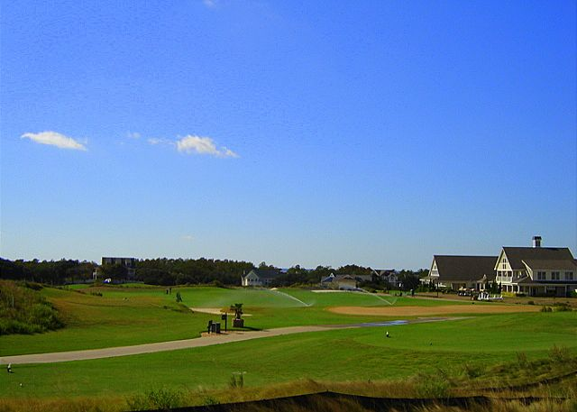 Golf View of Cat Nap Cottage, a 4 bedroom, 4.0 bathroom vacation rental in Corolla, NC